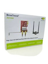 Bros Trend AC1200 High Gain Wireless Dual Band PCI-e Network Adapter AC6   M2