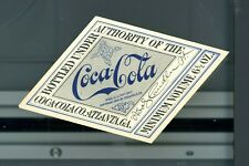 Coca-Cola Early Unused label Diamond Shape 1907 Copyright Eskew Collection
