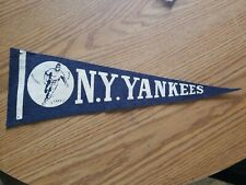 (VTG) 1950s ny yankees pennant player running & baseball sports ny