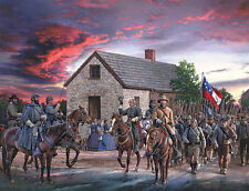 """Scarlet Sky"" by John Paul Strain Military L/E signed Civil War Print"