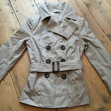 Primark Atmosphere Beige Marl Cotton Trench Jacket. Size 8
