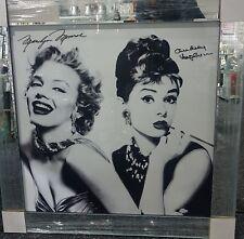 Marilyn Monroe and Audrey Hepburn , crystals Liquid art Picture & mirror frame