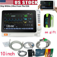 10''Medical LCD Patient Monitor 6parameter ICU CCU Vital Sign Cardiac Machine US