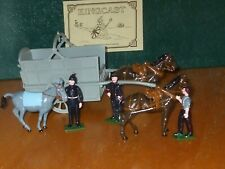 Kingcast Wagon and British Troops toy soldiers Mib
