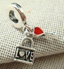hot European Silver CZ Charm Beads Fit sterling 925 Necklace Bracelet Chain dj6