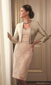 Linea Raffaelli, Dress & Jacket, Mother Of The Bride/Groom, UK12 Peach/Stone