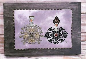 Frank and Elvira Gobblestein Gobble Couple Cross Stitch Framed Ready to Hang
