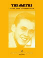 """The Smiths LAST NIGHT I DREAMT THAT SOMEBODY 16"""" x 12"""" Photo Repro Promo  Poster"""