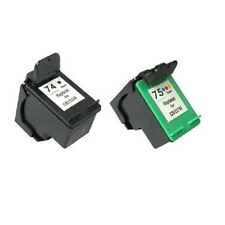 Remanufactured Ink Cartridges for HP 74 CB335W Black + HP 75 CB337W Color