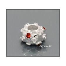 925 Silver Focal European Bracelet Bead 12mm w/CZ 51361