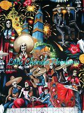 Alexander Henry Folklorico Fiesta de San Marcos Skull Midnight Fabric