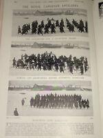 1897 Royal Canadian Artiglieria Neve Scarpa Vagabondo B Batteria