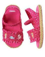 Gymboree Infant Girl Size 1 Baby Seahorse Pink Polka Dot Sandals Shoes NEW