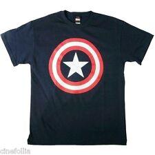 T-shirt Captain America logo scudo Shield '80 Uomo ufficiale Capitan Marvel
