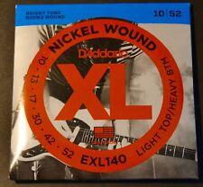 D'Addario EXL140 Nickel wound 10/52 Cordes guitare guitar strings NEUF Daddario