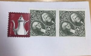 Un-cancelled $5 Washington & Jackson Stamps on Paper