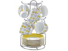 Tazzine da Caffe' porcellana con Appendino metallo Borella DECORO Amantea x 6