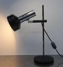 Tischlampe verstellbare Leuchte Schwarz Chrom Schreibtischlampe 70er
