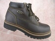 Vtg 90s Skechers Brown Leather Chunky Hikers Jammers Y2K Ankle Boots Us 7 Uk 4