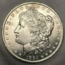 1884 O Morgan Silver Dollar $1 Uncirculated Lustrous Frosty White Coin