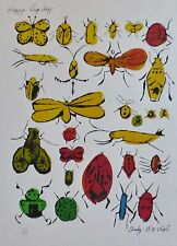 ANDY WARHOL HAPPY BUG DAY HAND NUMBERED 242/1000 PLATE SIGNED LITHOGRAPH MATTED