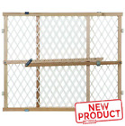 23 Inch Diamond Mesh Gate Child Safe Wooden Frame Adjustable Secure Stair NEW