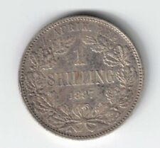 SOUTH AFRICA 1897 ONE SHILLING KRUGER STERLING SILVER COIN