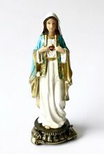 """SACRED IMMACULATE HEART OF MARY STATUE - 5"""" Resin Florentine Figurine/ Statuette"""