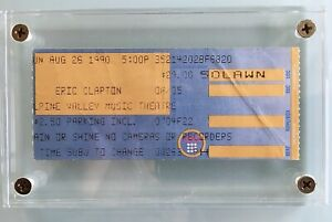 Stevie Ray Vaughan Last Concert Ticket Stub & Day After News August 26th,1990