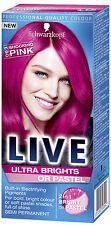 Schwarzkopf Live Semi Permanent Colour Ultra Brights or Pastel 93 SHOCKING PINK