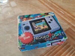 BOXED SNK NEO GEO POCKET COLOR CONSOLE - IN VERY GOOD CONDITION - BLUE