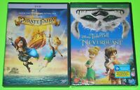 Disney DVD Lot - The Pirate Fairy (Used) Tinker Bell and the Neverbeast (New)