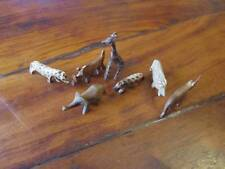 Handmade African Wooden Animals 5cm - Set of 7 - Delivered