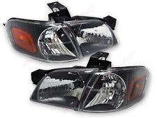 Pair Black Housing Headlights + Corner for 1997-2005 Venture Shilhouette Montana