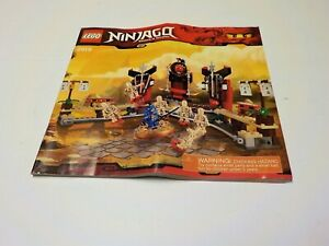 LEGO Ninjago SKELETON BOWLING 2519 Instruction Manual book only