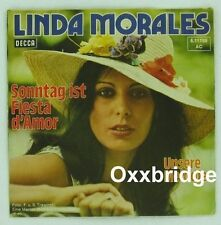 LINDA MORALES Sonntag ist Fiesta D'Amor RARE Vinyl DECCA 1975 German PS Deutsche