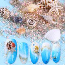 Natürlich Mini 3D Nagel Dekoration Conchs Schalen Seestern Strand Maniküre DIY