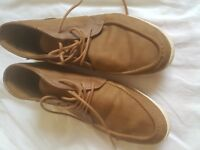 MENS RED HERRING BROWN LACE UP BOOTS SIZE 11