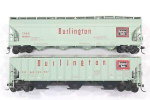 HO Athearn Burlington Route ACF & PS-2 Covered Hoppers