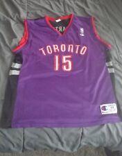Nike Team Toronto Raptors NBA Jersey Adult LARGE Vince Carter #15 purple black