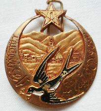 insigne 1° RTM WWII 1945 hirondelle Drago bér Tirailleurs Marocains ORIGINAL