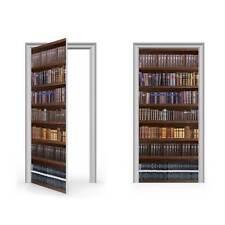 Antique Bookcase Vinyl Sticker for Door / DoorWrap / Door Skin / Door Sticker...