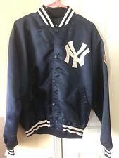 VTG 80s 90s Starter NY New York Yankees Nylon Satin Bomber Jacket X-Large.
