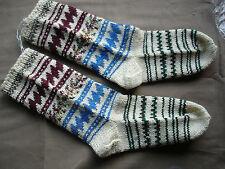 #690  Beautiful Vintage Handmade Woolen Socks  22cm/27cm(8.5''/10.5'')