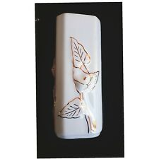 Vintage LOUCARTE Hand Painted Ceramic Pottery Vase Lilly Floral