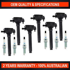 6x Swan Ignition Coils & NGK Iridium Spark Plugs for Jeep Cherokee Wrangler V6