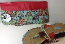 NEW Mud Pie Women's PURSE & SHOES Matching Sandals Blue Paisley Valentines Gift