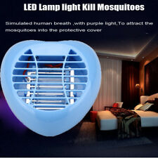 Blue LED Electric Mosquito Fly Bug Insect Night Lamp Killer Zapper Heart-shape