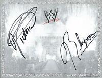 Victoria & Rhyno AUTOGRAPHED Photo TNA Tara Impact Wrestling WWE Diva Rhino ECW