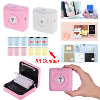 PeriPage Mini Wireless BT Printer 9 Color Thermal &3 Adhesive Sticker Paper M0M4